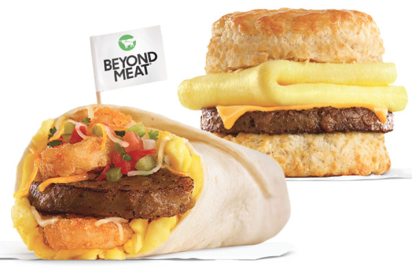 Carl's Jr. Beyond Sausage Burrito and Beyond Sausage Egg & Cheese Biscuit