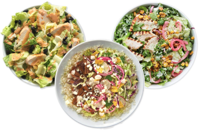 Chopt is debuting the Destination Mexico menu, featuring three new dishes inspired by the country's recipes and spices.  The Mexican Street Corn Caesar Salad is made with grilled chicken, Mexican street corn, pickled red onions, toasted pumpkin seeds and cotija herb Caesar salad dressing on a bed of romaine lettuce.  The Mexicali Cobb Salad combines grilled chicken, black beans, pepper jack cheese, tortilla chips, romaine lettuce and jalapeño ranch dressing.  The Barbacoa Brisket Bowl includes braised barbacoa brisket, cotija cheese, tortilla chips, radish, pickled red onions and a cabbage cilantro blend atop warm grains or cauliflower rice all topped with spicy Mexican ranch.