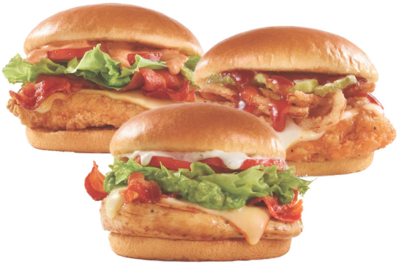 Wendy's is expanding its Made to Crave menu with three new chicken sandwiches made with all white meat chicken.  The Avocado BLT features a grilled chicken fillet topped with muenster cheese, three strips of applewood smoked bacon, lettuce, tomatoes, avocado and buttermilk ranch sauce.  The S'Awesome Bacon Chicken Sandwich is made with a lightly breaded and seasoned homestyle chicken fillet, muenster cheese, three strips of applewood smoked bacon, iceberg lettuce, tomatoes and S'Awesome sauce.  The Barbecue Chicken Sandwich includes a spicy chicken fillet topped with muenster cheese, crispy fried onion, pickles and a sweet and smoky Kansas City-style barbecue sauce.