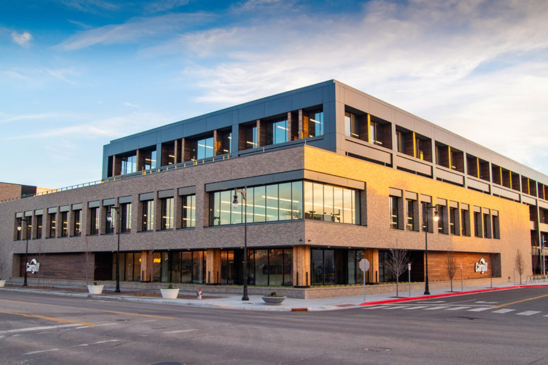 Cargill's new Protein headquarters at 825 E. Douglas in downtown Wichita, Kansas, boasts a four-story, 188,000-sq.-ft. building filled with innovation and connectivity.