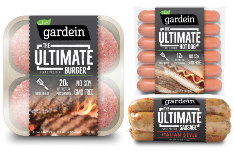 Innovation on tap from the Gardein brand includes a meatless burger, meatless hot dogs and sausage products. The Ultimate Burger contains 10 grams of plant protein per serving, and The Ultimate Hot Dog provides 12 grams of plant protein per serving. The Ultimate Sausage comes in varieties including Italian Style.