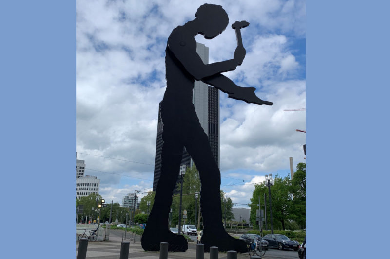 The Frankfurt Hammering Man statue, standing 69-ft. tall, is a familiar sight to return IFFA visitors. The statue was commissioned in 1990 during the addition of the Messeturm (exhibition tower) at the Frankfurt Fair and Exhibition Centre, home to the IFFA show for the past 70 years.