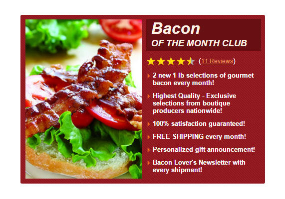Bacon gifts bacon of the mo