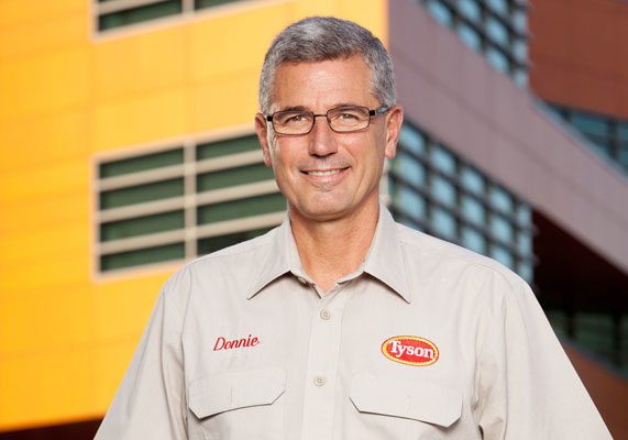 Annual sales: $34.4 billion (estimated) Headquarters: Springdale, Ark. Chief executive officer: Donnie Smith (pictured) Species: Beef, chicken, pork Products: Bacon, battered/breaded products, canned meats, cured/cooked beef, cured/cooked pork, cured/cooked poultry, ham, luncheon meats/loaves, prepared meals, rendering/by-products, sausage-cooked, skinless/boneless poultry Web site: www.tyson.com