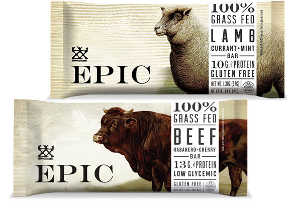 Epic Bars from Austin, Texas-based Epic Foods are positioned as Paleo-friendly and low-glycemic. With 140 to 200 calories 10 to 14 grams of protein, varieties include bison and bacon with cranberry, beef with habanero and cherry, turkey with almond and cranberry and lamb with currant and mint.