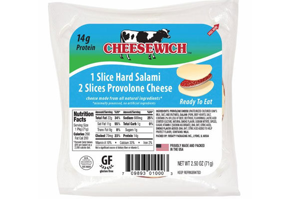 Snack slide cheesewich