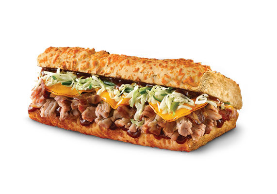 Returning to Quiznos through the summer is a pair of barbecue pulled pork sandwiches. The Southern version comes with mozzarella and cheddar cheese, pickles, yellow mustard and barbecue sauce, while the spicy option has bacon, aged cheddar, cilantro-jalapeno slaw and barbecue sauce on jalapeno cheddar bread.
