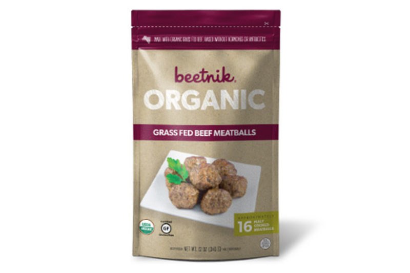 Beetnik Foods LLC, Austin, Texas, an organic meat and poultry-based frozen meal manufacturer, now offers organic meatballs, encouraging shoppers to get creative in the kitchen by using their own sauces, grains and vegetables. Sold 16 to a pouch, the gluten-free frozen meatballs come in Grass Fed Beef and Chicken varieties. The company's two newest frozen meals are Beef Bolognese with Zucchini Noodles and Honey Chicken with Zucchini Noodles.