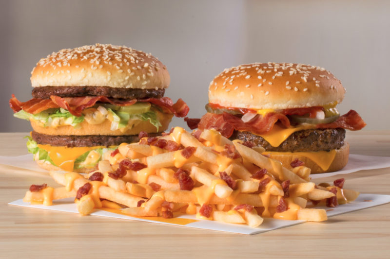 Bacon is sizzling on three new offerings from McDonald's.
