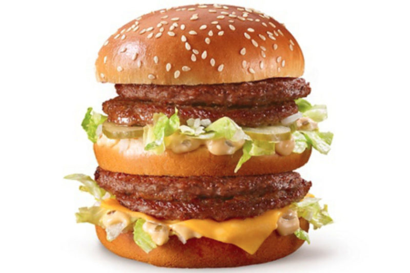 McDonald's in March debuted the Double Big Mac, featuring four 100% beef patties with Special Sauce, lettuce, cheese, pickles and onions and an extra bun in between.