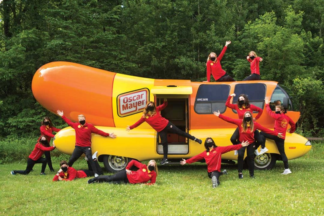 Oscar Mayer Hotdoggers criss-cross the United States in the Wienermobile.