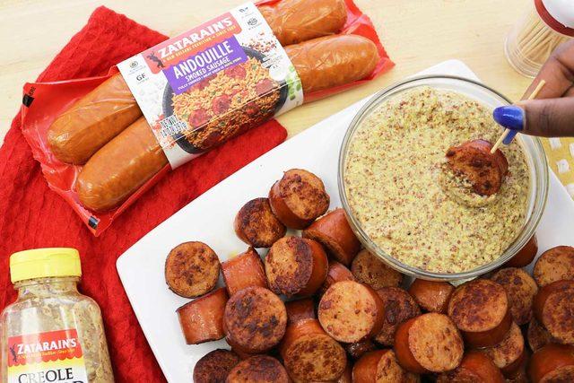 Zatarains sausage and creole mustard