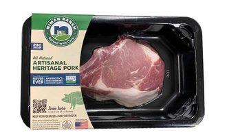 Niman pork loin chop dar fresh tray