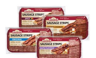 Johnsonville sausage strips smaller