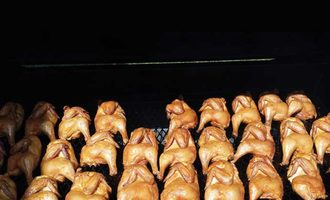 Food safety chickens on the grill