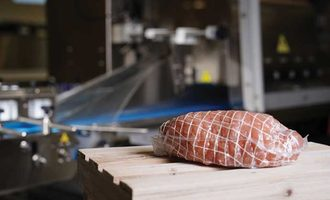 Packaging shrinkable rollstock sealed air