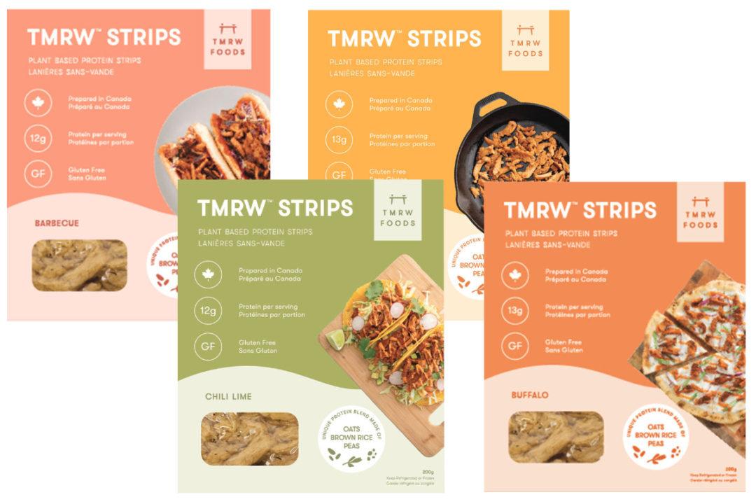 Assortment of TMRW plant-based products