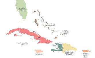 Caribbean map adobe stock