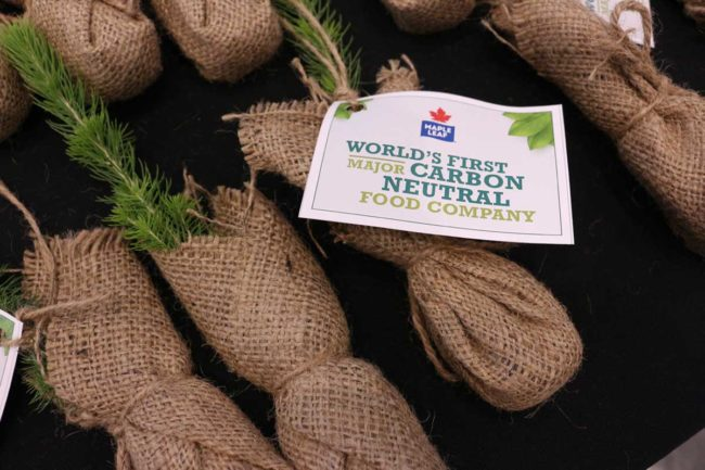 Maple Leaf Foods carbon neutral announcement