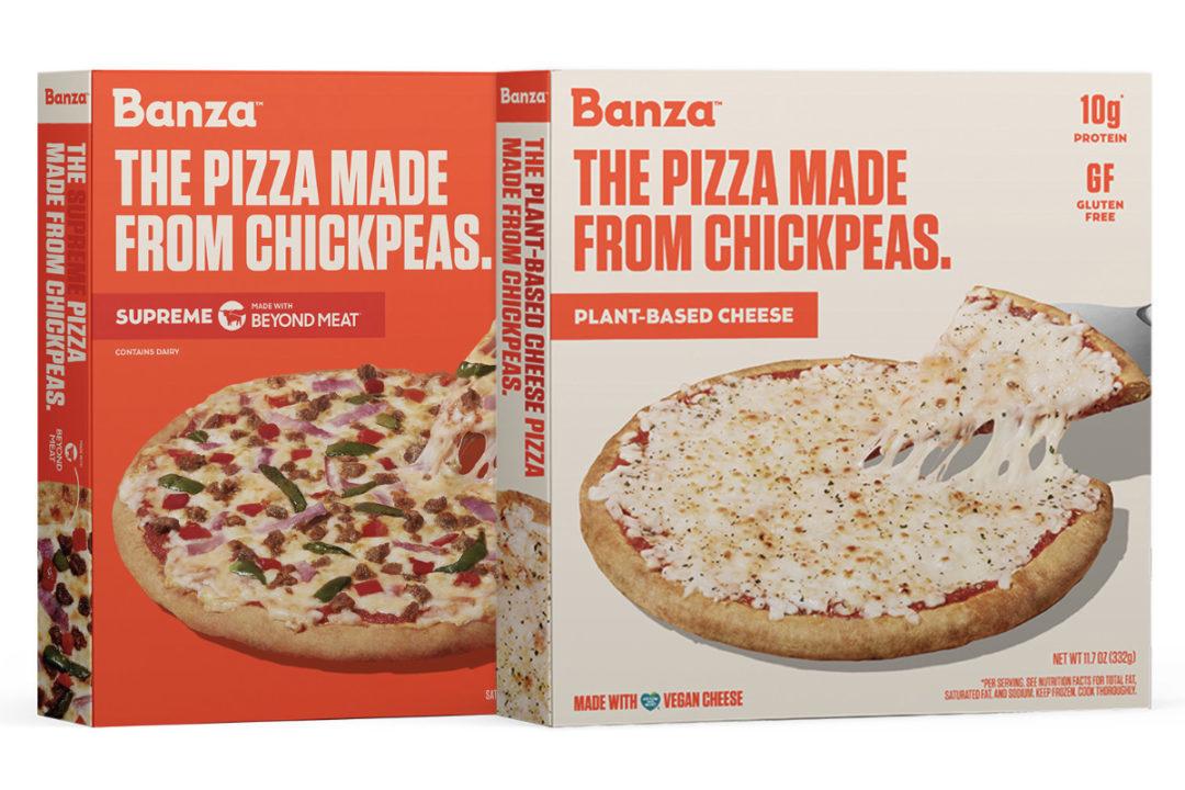 Banza Supreme plant-based cheese pizza