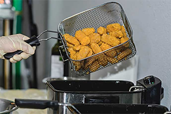 Alfred's FootTech plant-based nuggets removed from fryer