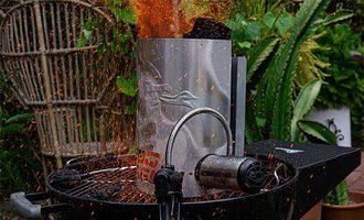 Insider bbq dragon chimney and fan