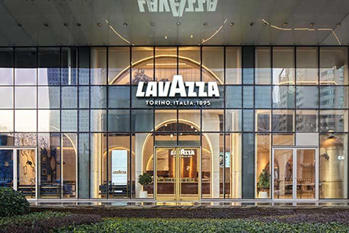 Exterior of a Lavazza Cafe