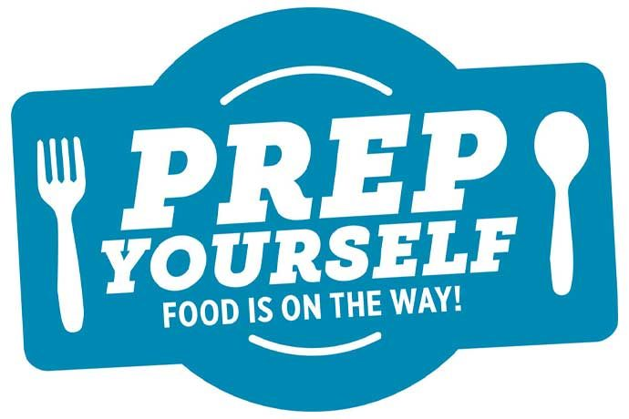 Logo that says Prep Yourself, Food is on the way!