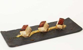 Ingredients cobblestone restaurant cider braised pork belly