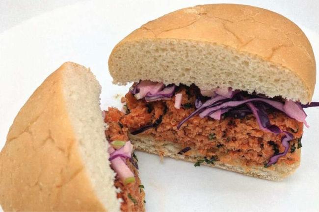 Terramino Foods fungi-based salmon burger
