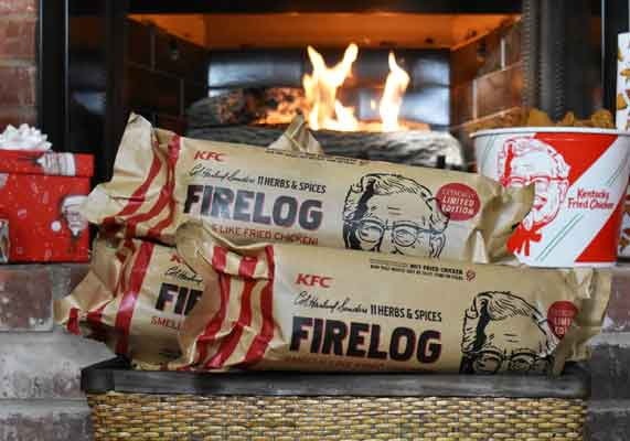 Kentucky Fried Chicken and Enviro-Log created a limited-edition 11 Herbs & Spices Firelog.