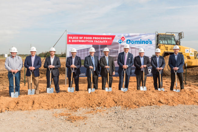 Domino's ground breaking