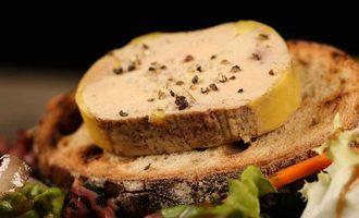 Foie gras salad adobestock