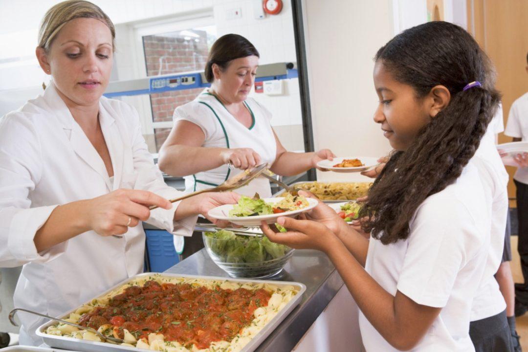 Girl Getting Food