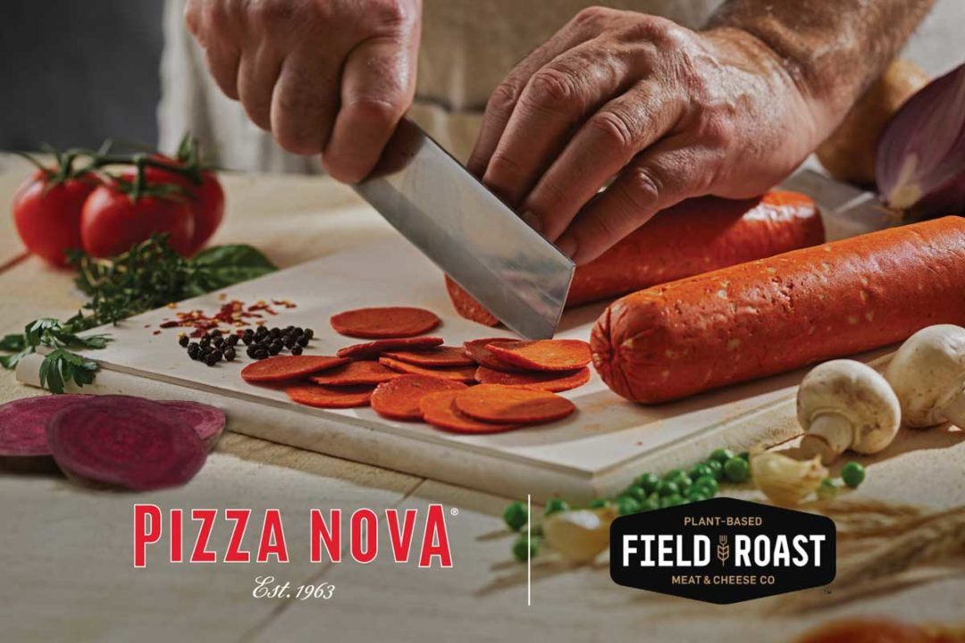 Pizza Nova is the first foodservice operation to serve Field Roast plant-based pepperoni.