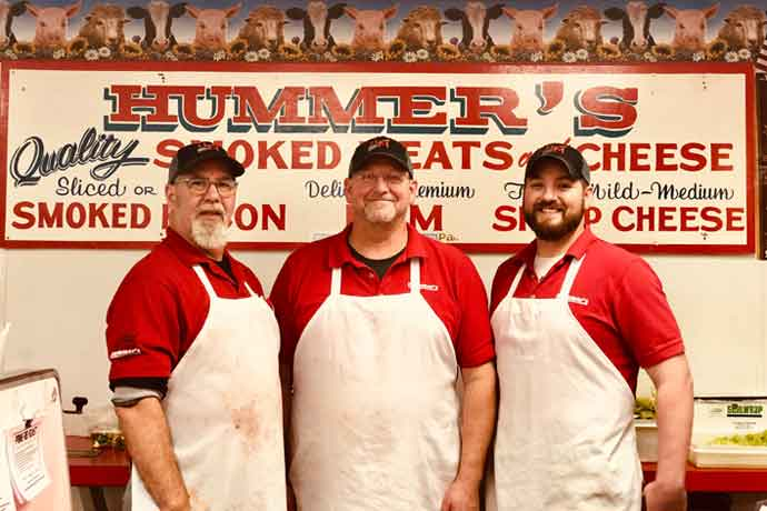 Hummer's Meats is a family affair. From left: Jeff Hummer, his brother Doug and nephew Rick.