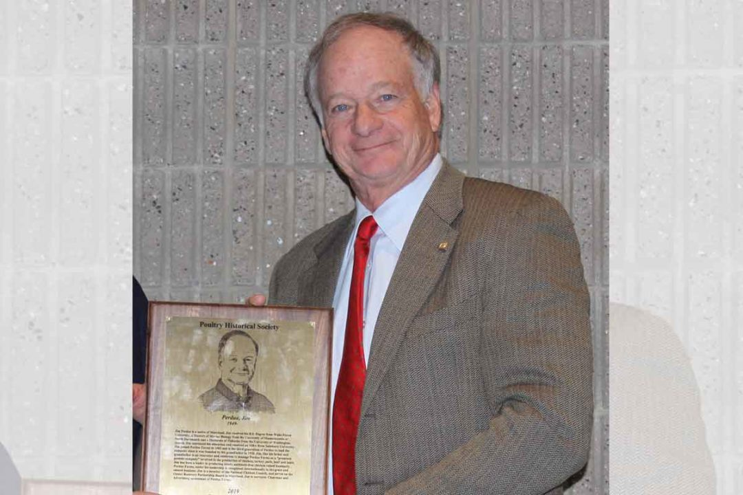 Perdue Farms Chairman Jim Perdue was recently inducted into the Poultry Industry Hall of Fame