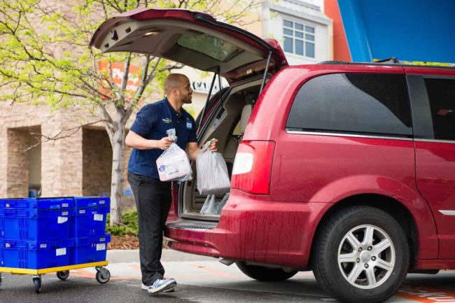 Walmart now offers grocery pickup at more than 2,100 locations and grocery delivery at nearly 800 locations.