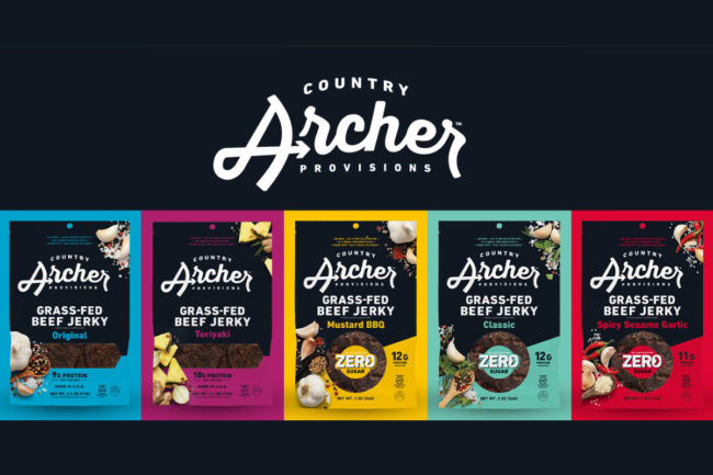 Country Archer Provisions, formerly known as Country Archer Jerky Co., announced a new line of zero-sugar beef jerky.