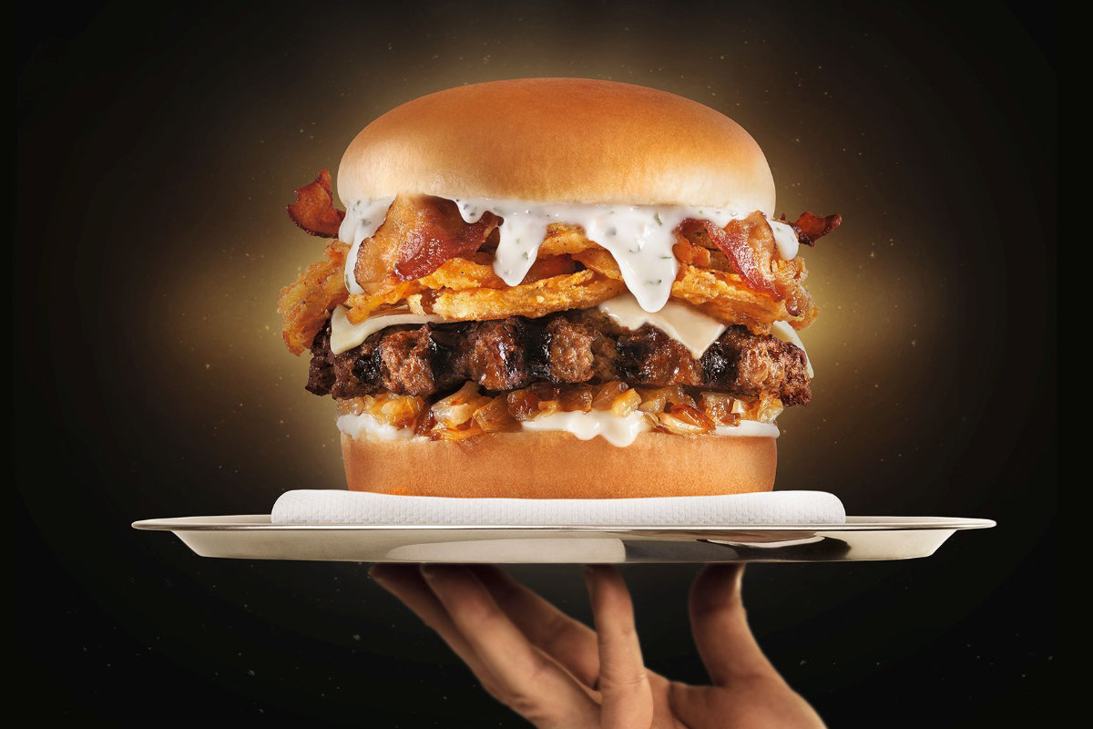 Carls Jr bacon burger