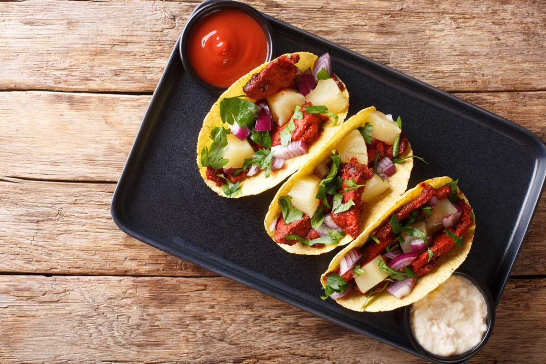 Consumers are showing a renewed interest in three global flavor favorites like tacos el pastor.