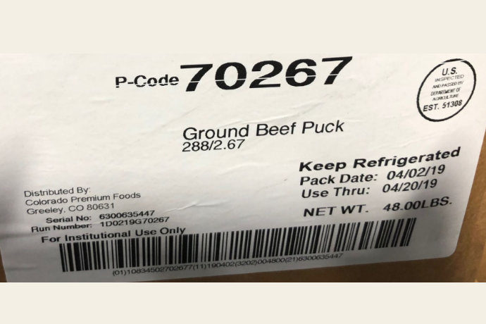 Ground Beef recall smaller