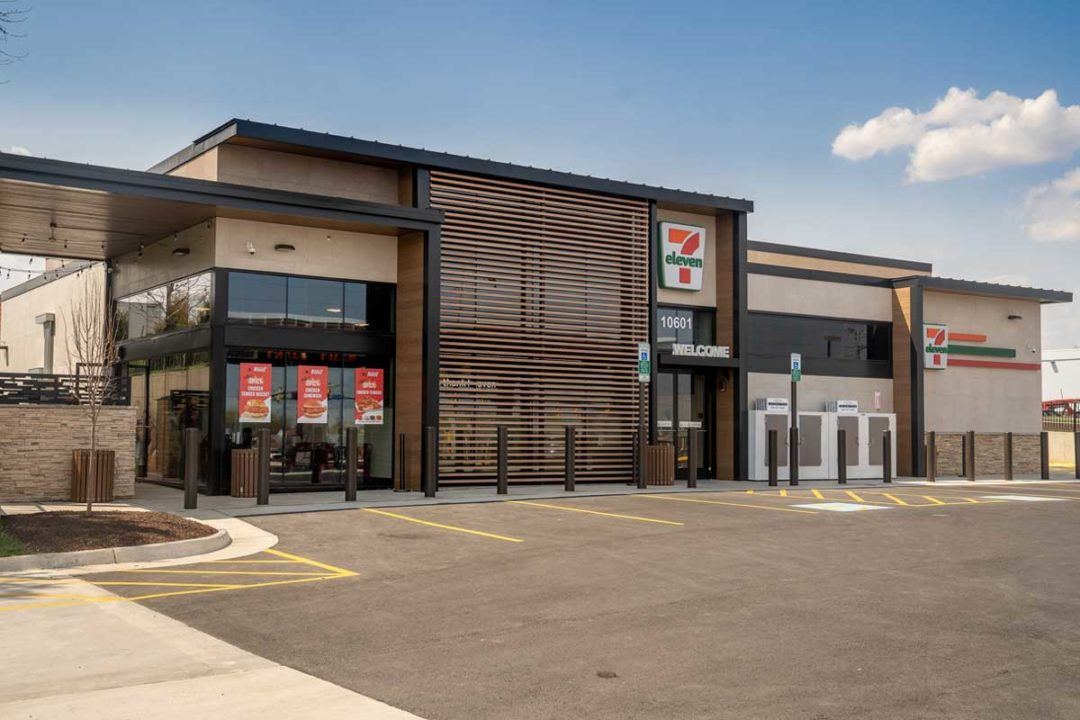 Exterior photo of new 7-Eleven concept store.