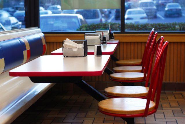 Emptyfastfoodrestaurantbooth smaller