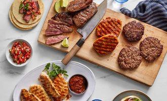Blue apron butcher bundle