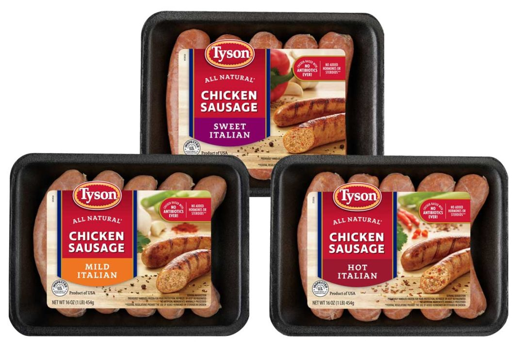 Tyson chicken sausage