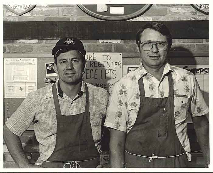 "Francis R. ""Butch"" (left) and John Fisher took over ownership of the store in 1975."