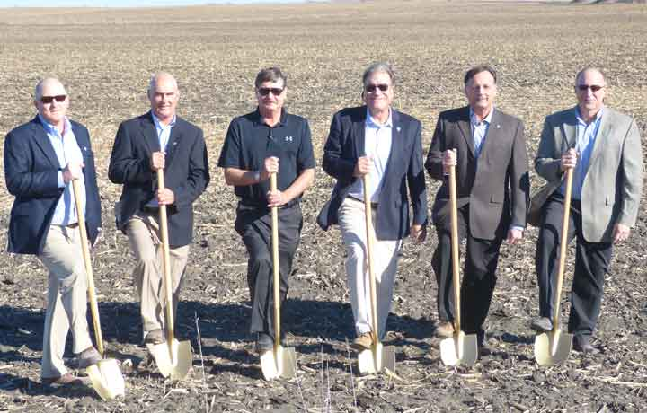 Executives at the Prestage Foods of Iowa groundbreaking ceremony.