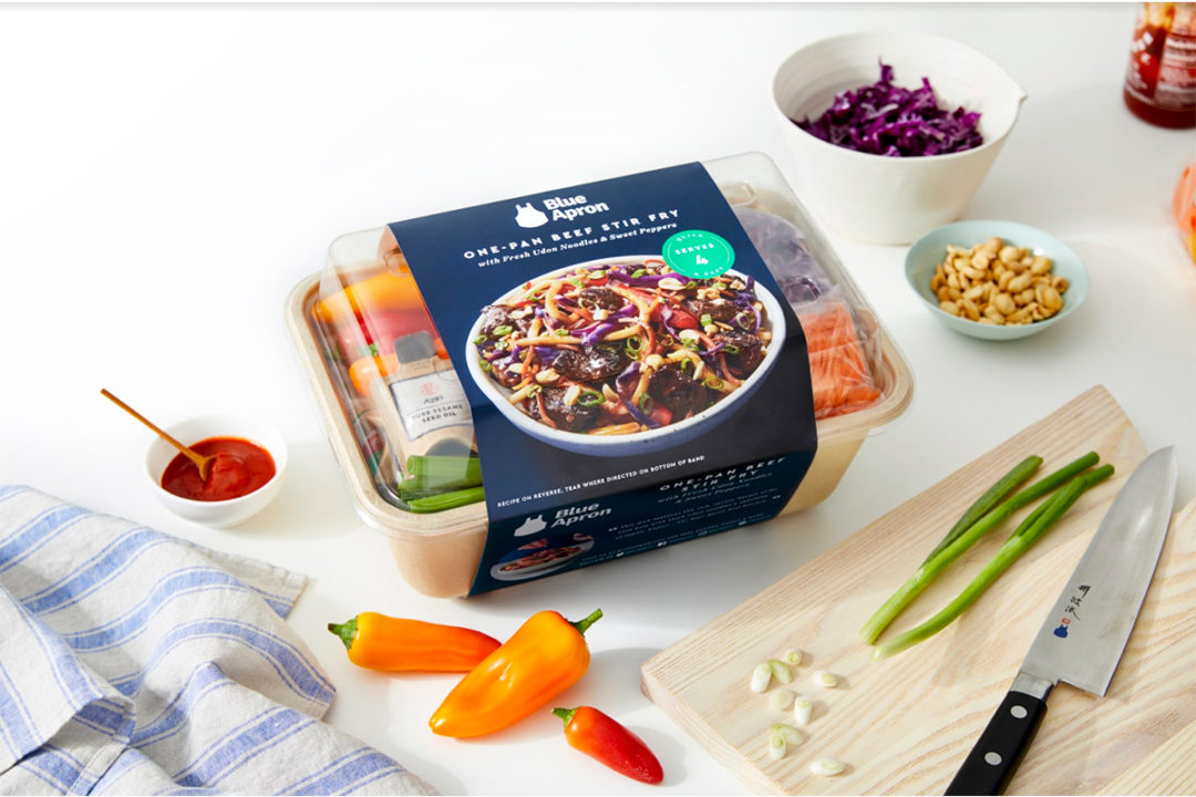 Blue Apron one-pan beef stir fry meal kit