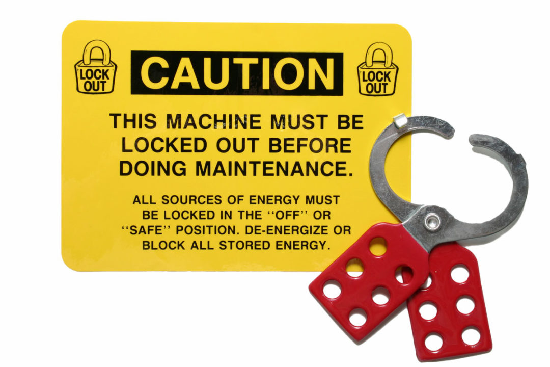 Compliance with lockout/tagout procedures helps prevent an estimated 120 fatalities and 50,000 injuries each year.